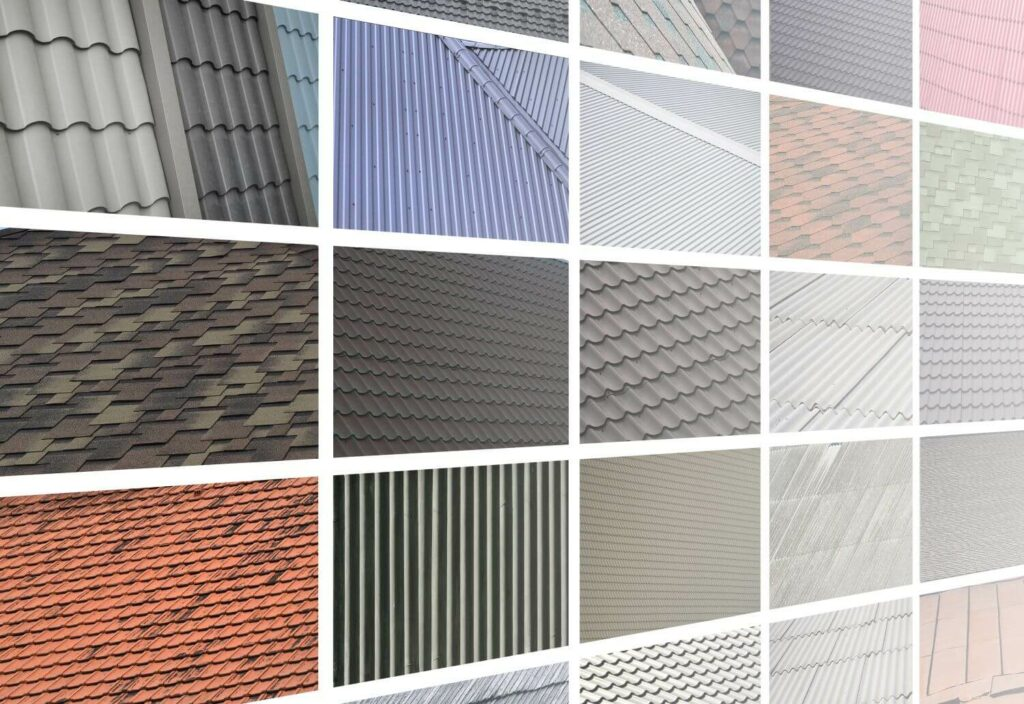 Kinds or Types of Roof Materials wood shingles, concrete durable, asphalt
