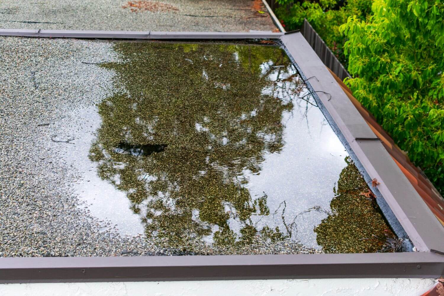 reduce water pooling on flat roof ponding water roof services